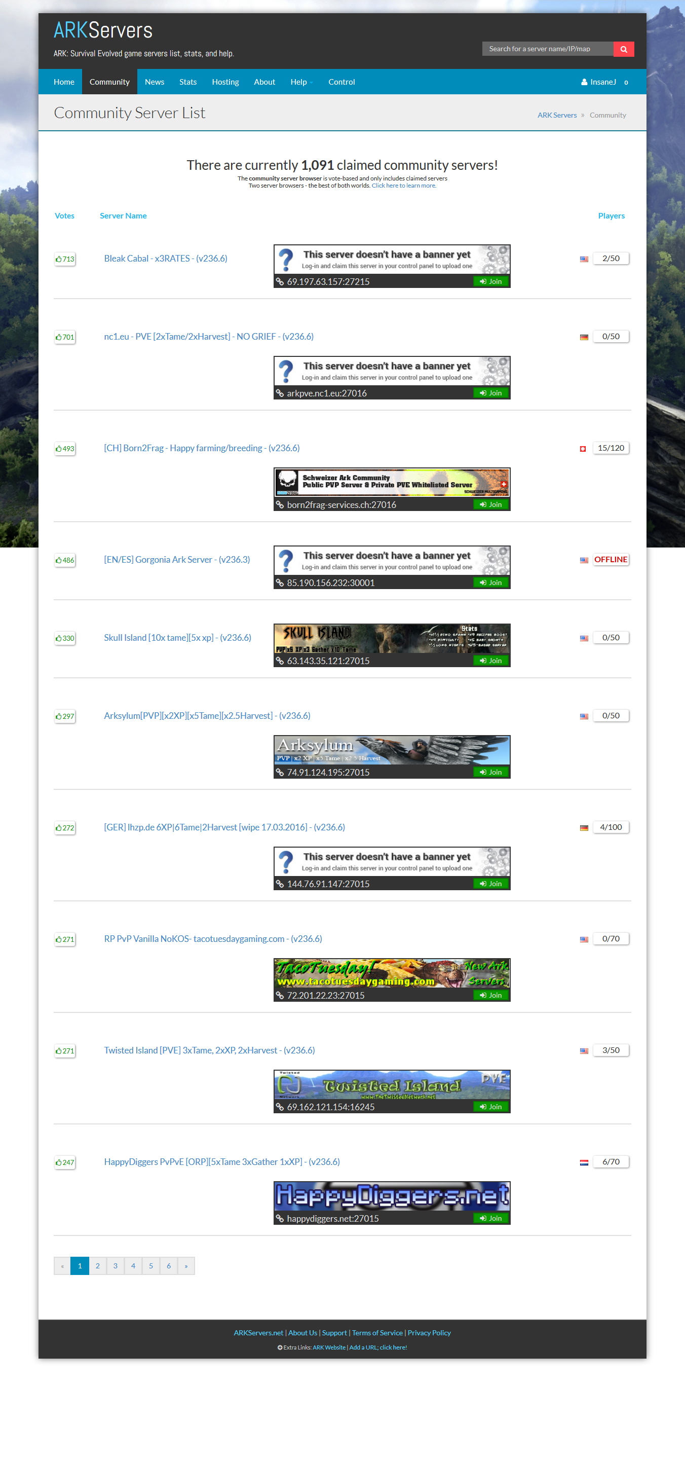 Name:  HappyDigges on the frontpage of the Community Server List.png Views: 89 Size:  840.7 KB